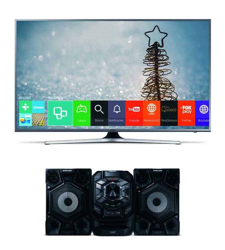 "TELEVISOR SAMSUNG LED SMART SUPER UHD 55"" JS7200 + MINI MX-J630"