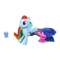 My Little Pony Figura Ponysirena con Accesorios Rainbow Dash