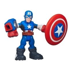Marvel Super Hero Adventures Figura con Accesorios Capitán América